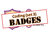 Badges - Library Skills: Coding (set 3)