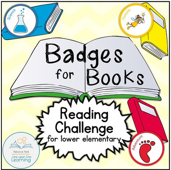 Badges for Books Reading Challenge and Genre Exploration for lower elementary