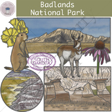 Badlands National Park Clipart Set
