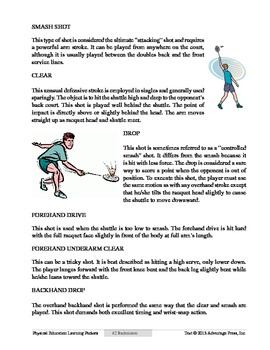 Badminton: An Academic Learning Packet