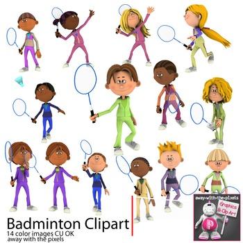 Badminton Sport Clip Art for PE