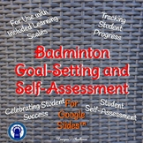Badminton Unit Goal-Setting and Self-Assessment Rubric for