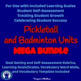 Pickleball and Badminton Units MEGA Bundle with Assessments, Vocab., & More
