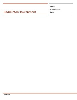 BadmintonTournament