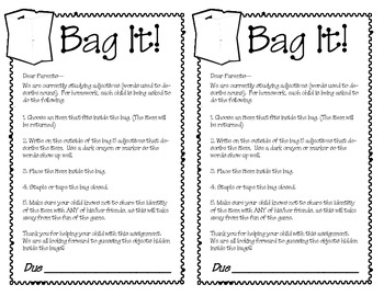 Bag It!  (Adjectives)