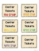Bag Labels for Center Tickets