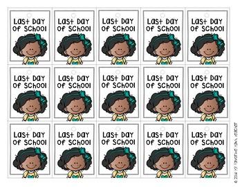 Brag Tags Last Day of School