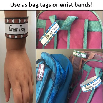 Bag Tags, Bag Bands and Wrist Bands