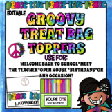 Bag Toppers for Teachers, Staff, or Students (Hippie Groovy Theme) Treat Bags