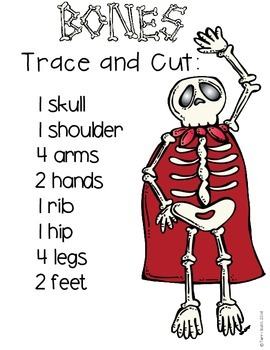Bag of Bones....a skeleton craft and writing activity
