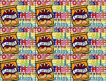 Bag of Chips Editable Gift Tags