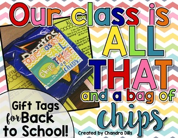Bag of Chips Editable Gift Tags