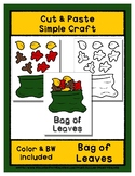 Bag of Leaves - Cut & Paste Craft - Super Easy perfect for