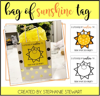 Bag of SUNSHINE Tag