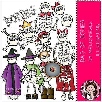 Melonheadz: Bag of bones clip art - COMBO PACK