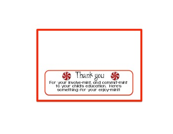 Bag topper for Parent Night or Parent Thank You