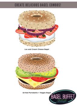Bagel Buffet Clip Art / Food Clip Art Set - Build your own bagel!