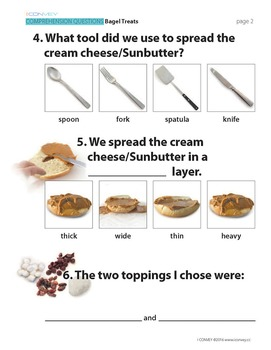 Bagel Treats:  Comprehension Questions