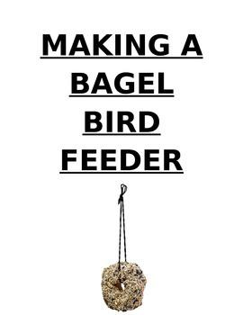 Bagel bird feeder