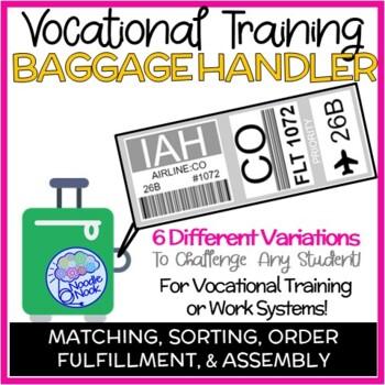 Baggage Handling- A Printable Vocational Work Task for Autism Units -Life Skills