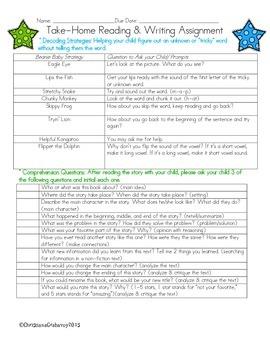 Baggie Book Reading-Writing Extension Menu