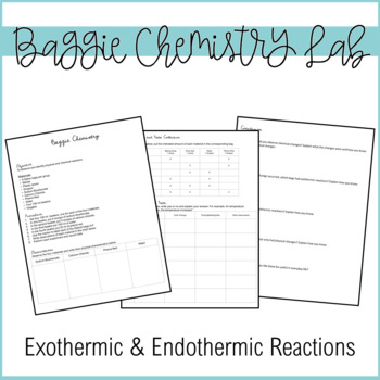 Endothermic and Exothermic Science Lab Activity