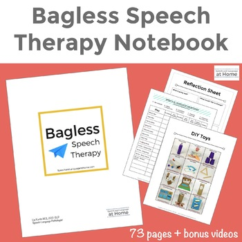 Bagless Speech Therapy Notebook - Transitioning from the Toy Bag to Coaching