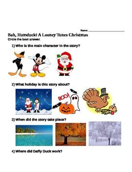 Bah Humduck Netflix holiday comprehension lesson (2 levels)