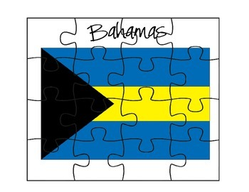 Bahamas Flag Puzzle Set