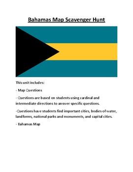Bahamas Map Scavenger Hunt
