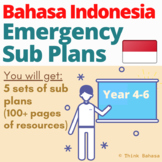 Bahasa Indonesia Class Emergency Sub Plans (Year 4 to 6)