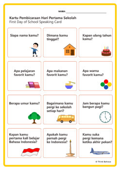Bahasa Indonesia Class: Icebreakers & Get To Know You Activities