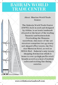 Bahrain World Trade Center for kids