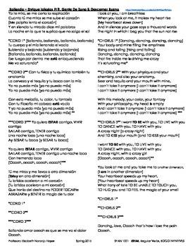 Bailando - Enrique Iglesias - ESTAR, Regular Verbs, BOGO Infinitives