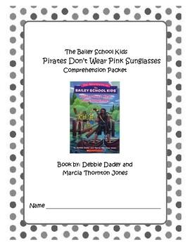 Bailey School Kid's Pirates Don't Wear Pink Sunglasses