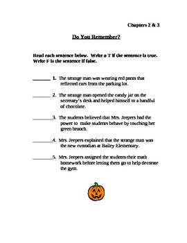 Bailey School Kids: Aliens Don't Carve Jack-O Lanterns Literature Log