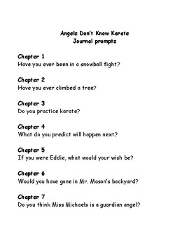 Bailey School Kids Angels Don't Know Karate comprehension questions