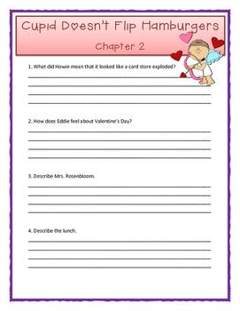 Bailey School Kids CUPID DOESN'T FLIP HAMBURGERS - Comprehension Questions