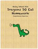 Bailey School Kids Dragons DO Eat Homework comprehension questions
