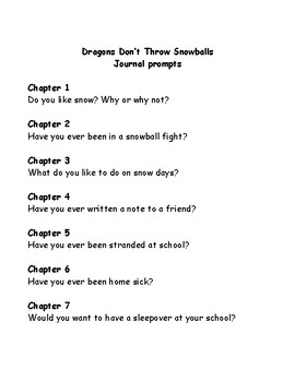 Bailey School Kids Dragons Don't Throw Snowballs comprehension questions