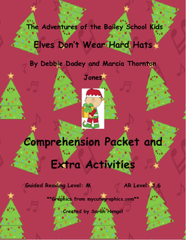 f87d84a1c47f Bailey School Kids Elves Don't Wear Hard Hats Debbie Dadey Comprehension  Packet