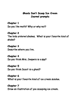 Bailey School Kids: Ghouls Don't Scoop Ice Cream comprehension questions