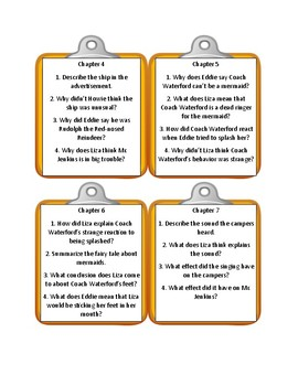 Bailey School Kids MERMAIDS DON'T RUN TRACK * Discussion Cards