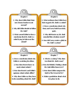 Bailey School Kids ROBOTS DON'T CATCH CHICKEN POX * Discussion Cards