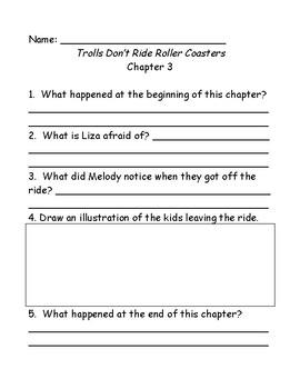 Bailey School Kids Trolls Don't Ride Rollercoasters comp questions