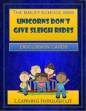 Bailey School Kids UNICORNS DON'T GIVE SLEIGH RIDES - Discussion Cards