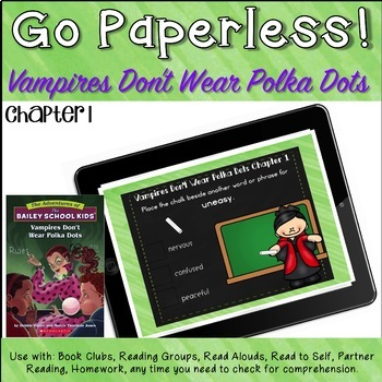 Bailey School Kids Vampires Don't Wear Polka Dots Novel Study Chapter 1