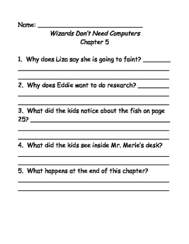 Bailey School Kids: Wizards Don't Need Computers comprehension questions