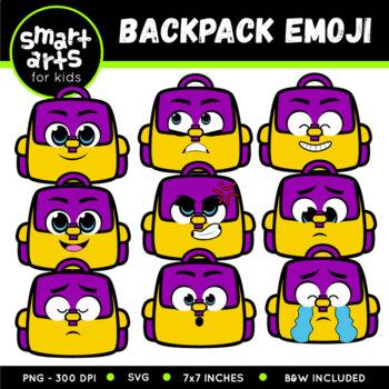 Bakcpack Emoji Clip Art
