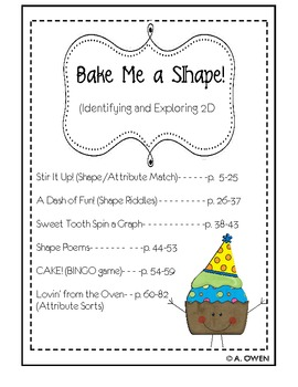 Bake Me a Shape (Identifying & Exploring 2D Shapes)